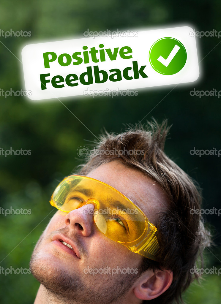 Young persons head looking with gesture at positive negative signs — Stock Photo #6856153