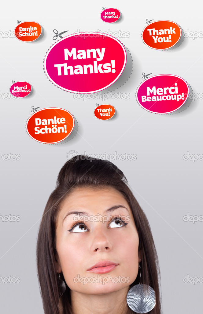 Young girl head looking at recreational signs — Stock Photo #6856856