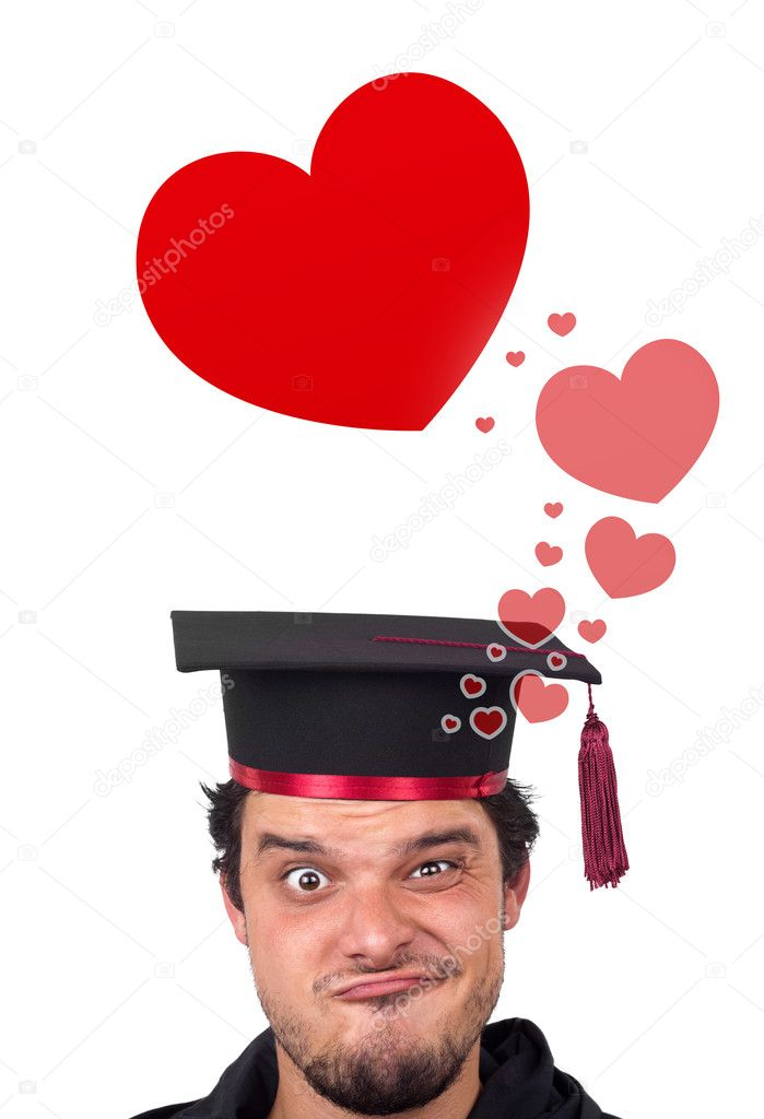 Young persons head looking with gesture at love signs — Stock Photo #6859032
