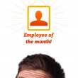 Young head looking at labor type of icons — Stock Photo #6860425
