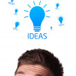 Young person looking at idea type of sign — Stock Photo #6860484