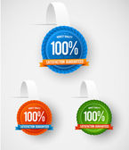 Modern hanging label collection — Stock Vector