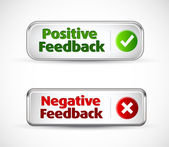 Positive and negative button style banners — Stock Vector