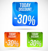 Colorful Save today discount banners and ads — Stock Vector