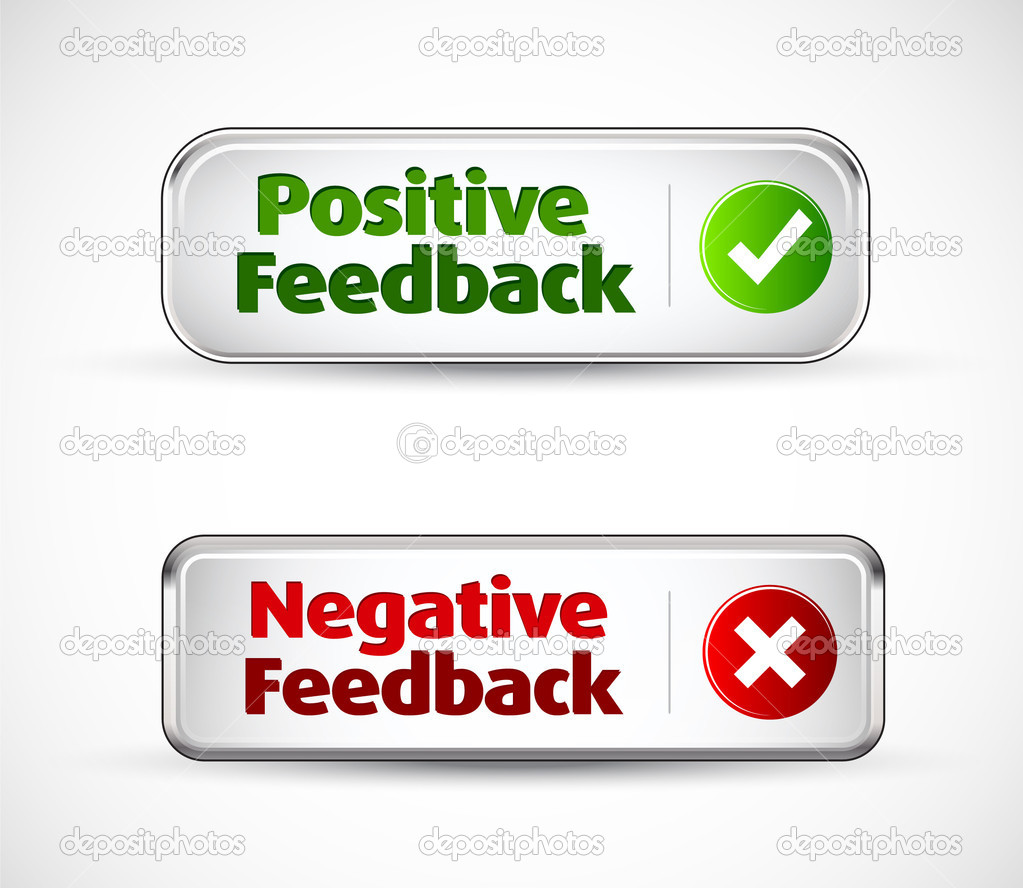 Positive and negative button style banners — Stock Vector #7146837