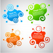 Colorful abstract speech bubble template collection — Stock Vector #7159958