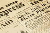Wartime news — Stock Photo