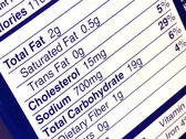 Nutritional label — Stock Photo