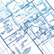 House plan blueprints — 图库照片