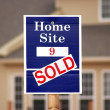 Sold sign — Stock Photo #7546505