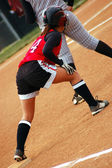 Giocatore di softball — Foto Stock