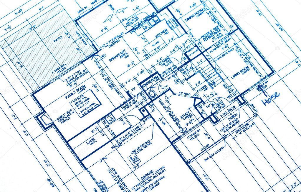 haus plan baupl ne stockfoto 7543893. Black Bedroom Furniture Sets. Home Design Ideas