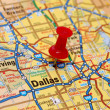 Map of Dallas — Stock Photo