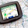 GPS on a map — Stock Photo