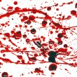 Blood splatter — Stockfoto