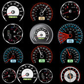 Set of car speedometers for racing design. — Stock Photo