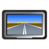 GPS navigation - vector illustration — Stock Photo