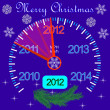 2012 counter on the dashboard for new year — Stock Photo