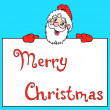 Happy Santa Claus over white blank — Stock Photo #7220430