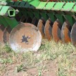 Disc harrow — Stock Photo