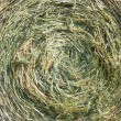 Stock Photo: Close-up shot of large bail of hay