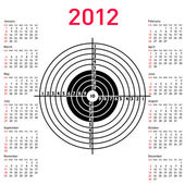 Calendar with target for shooting practice at a shooting range w — Stock Photo