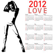 2012 calendar with fashion girl — Stock Photo