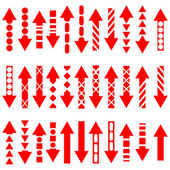 A vector set of useful red arrows. — Stock Photo