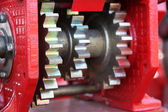 A large chain drive on a seed separator machine. — Stock Photo