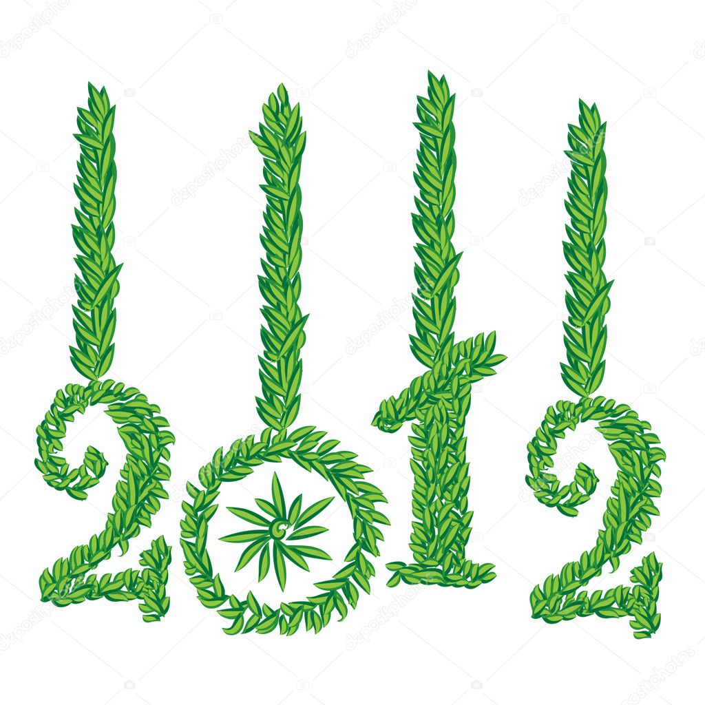 Happy New Year 2012 greeting card  Foto Stock #7220386