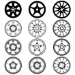 Automotive wheel with alloy wheels — Stock Photo