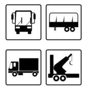 Collection of transport icons — Stockfoto