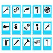 Auto Car Repair Service Icon Symbol — Stock Photo