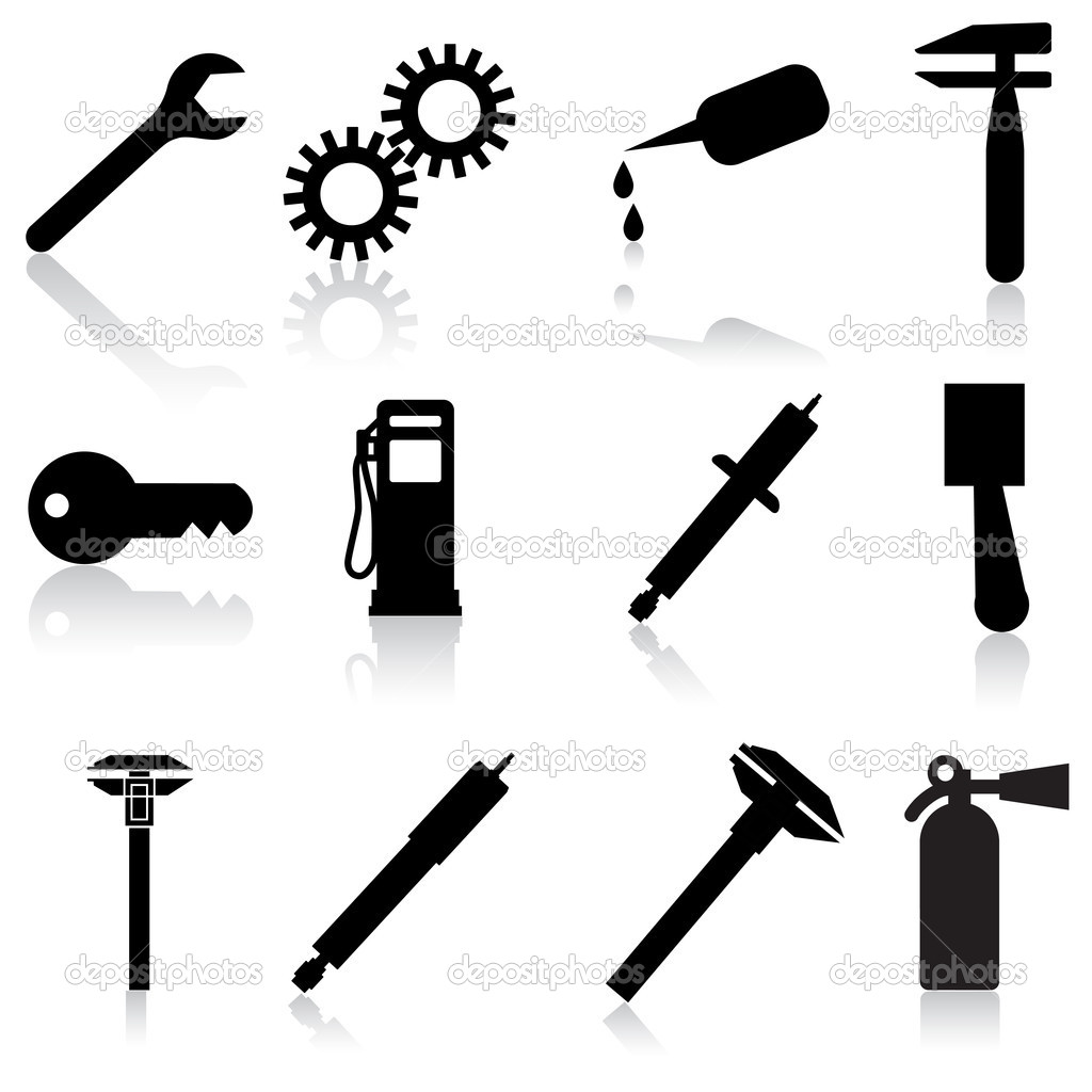 Auto Car Repair Service Icon Symbol — Stock Photo #7320806