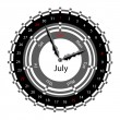 Creative idea of design of a Clock with circular calendar for 20 — Foto de Stock