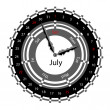 Creative idea of design of a Clock with circular calendar for 20 — Stockfoto