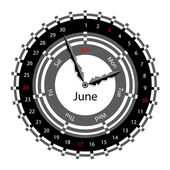 Creative idea of design of a Clock with circular calendar for 20 — Stock Photo