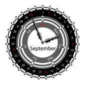 Creative idea of design of a Clock with circular calendar for 20 — Stock Photo