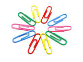 Flower from paper clips — Stock Photo