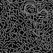 Seamless pattern. Computer circuit board. - Stock Photo