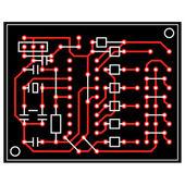 Vector astratta circuito stampato — Foto Stock