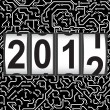 2012 New Year counter, vector. - Stock Photo