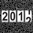 Royalty-Free Stock Photo: 2012 New Year counter, vector.