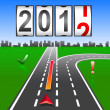 2012 New Year counter, vector. — Stock fotografie