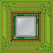 The modern computer is the processor on a chip — Stock Photo