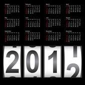2012 年时尚日历。星期日第一 — 图库照片