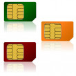 Set vector SIM cards. - Stock Photo