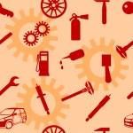 Auto Car Repair Service Icon Symbol. — Stock Photo