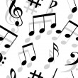 Music notes. Seamless wallpaper. — Stock Photo #7727477