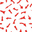 Vector set of red arrows, seamless wallpaper. — Stock Photo